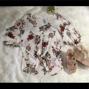 NWOT Large Floral Crop Top